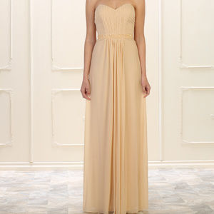 Simple Champagne Evening Formal Gown & Plus Size